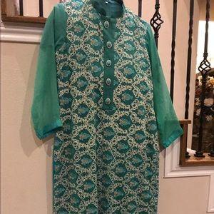 Pakistani 3 piece chiffon suit